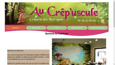Site internet de Au Crep'Uscule
