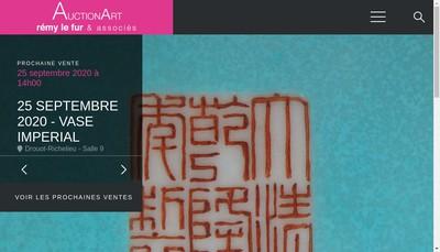 Site internet de Auctionart-Remy le Fur & Associes