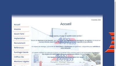 Site internet de Audo Express
