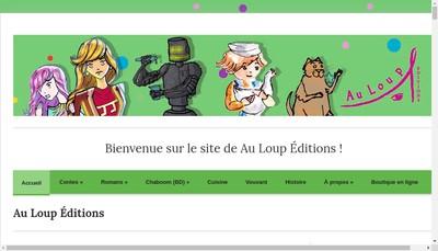 Site internet de Au Loup Editions