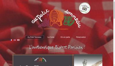 Site internet de Au Petit Tonneau