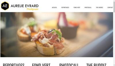 Site internet de Aurelie Evrard Photographe