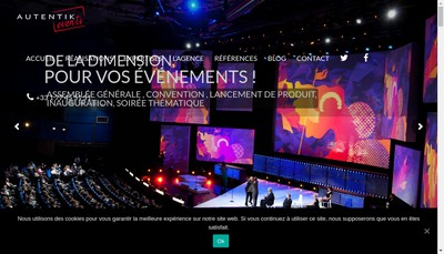 Site internet de Autentik Events