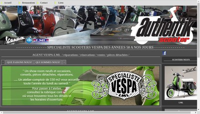 Site internet de Authentik Scooter