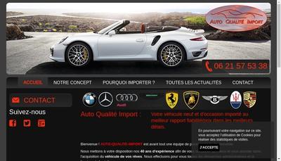 Site internet de Auto Qualite Import