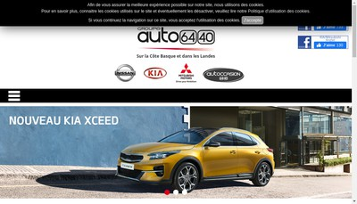 Site internet de Anglet Automobiles