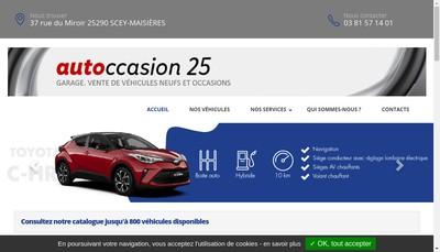 Site internet de Garage Autoccasion