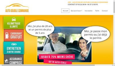 Site internet de Auto Double Commande