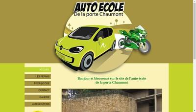 Site internet de Auto-Ecole de la Porte Chaumont