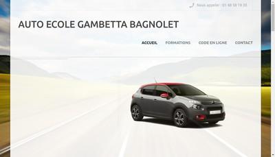 Site internet de Auto Ecole Gambetta