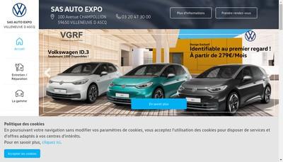 Site internet de Auto Expo Villeneuve d'Ascq