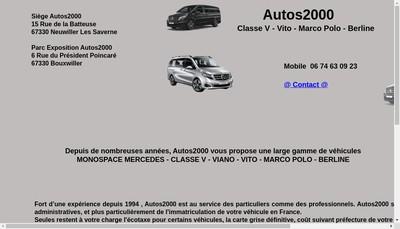 Site internet de Autos 2000