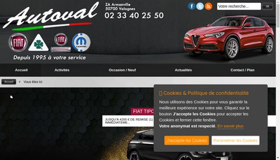 Site internet de Autoval