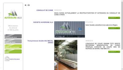Site internet de Auvergne Alu