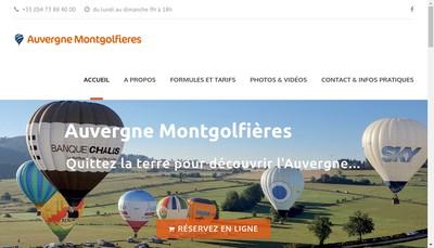 Site internet de Auvergne Montgolfieres