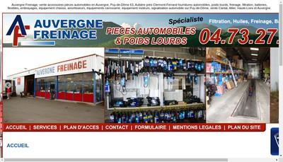 Site internet de Auvergne Freinage