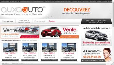 Site internet de Auxa Auto