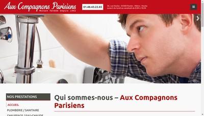 Site internet de Aux Compagnons Parisiens