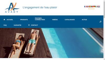 Site internet de Avady Pool