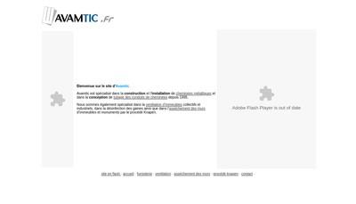 Site internet de SARL Avamtic