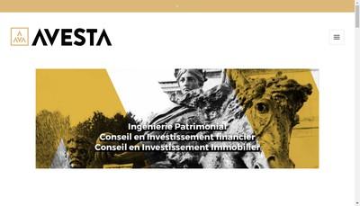 Site internet de Avesta Conseil