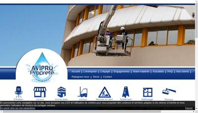 Site internet de Avipro Proprete