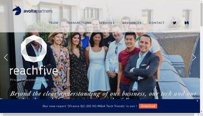 Site internet de Avolta Partners