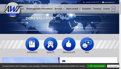 Site internet de All World Transport