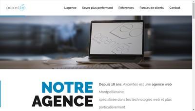 Site internet de Axcenteo