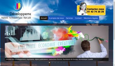 Site internet de Axe Developpement