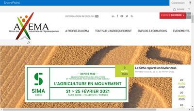 Site internet de Axema Promotion et Services