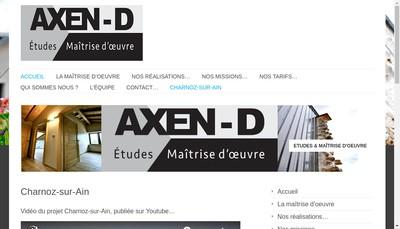 Site internet de Axen-D