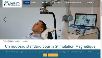 Site internet de Axilum Robotics