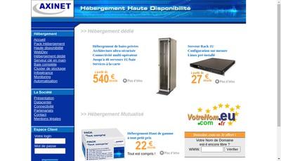 Site internet de Axinet Communication
