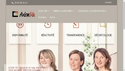 Site internet de Axion Rh