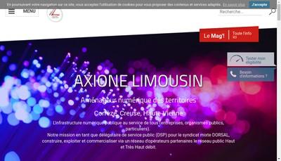 Site internet de Axione Limousin