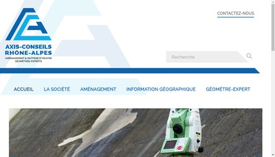 Site internet de Axis Conseils Rhone Alpes