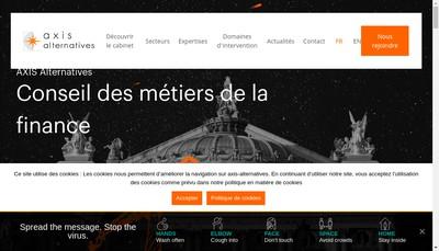 Site internet de Axis Alternatives