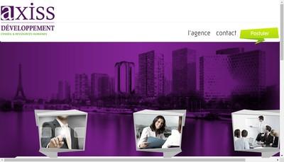 Site internet de Axiss Developpement