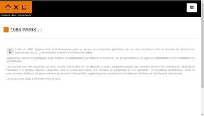 Site internet de Axl Conseils et Realisations