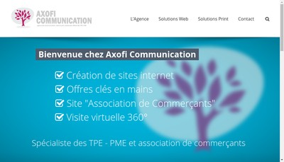 Site internet de Axofi Communication