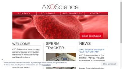 Site internet de Axo Concept