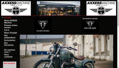 Site internet de Axxess Machine