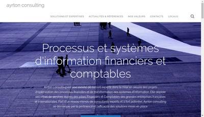Site internet de Ayrton Consulting