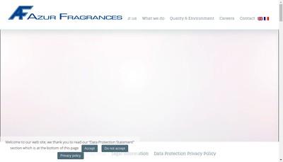 Site internet de Azur Fragrances France