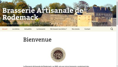 Site internet de Brasserie Artisanale de Rodemack