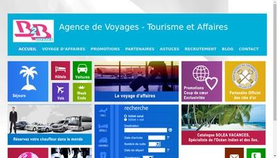 Site internet de B2B Voyages