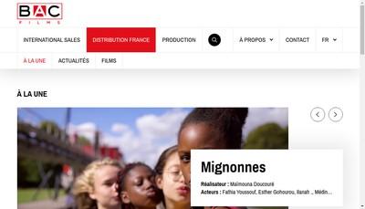 Site internet de Bac Films Production