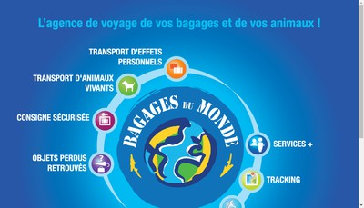 Site internet de Bagages du Monde