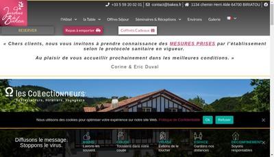 Site internet de Hotel Bakea